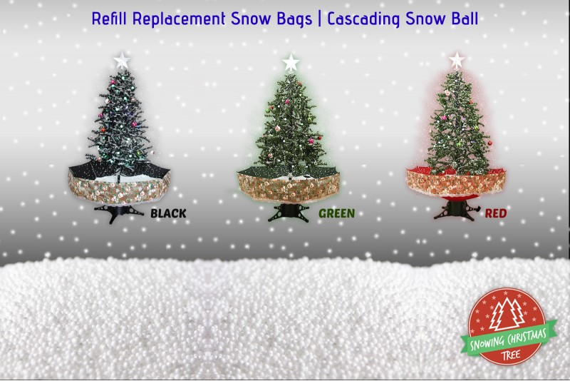 Snowing Christmas Tree | Refill Replacement Snow Bags | Cascading Snow Ball