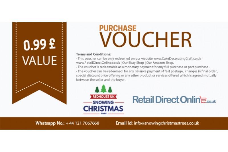 Purchase Voucher | Balance Payment Voucher | Value £ 0.99