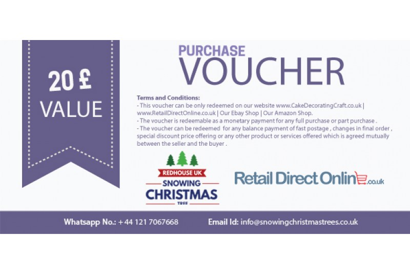 Purchase Voucher | Balance Payment Voucher | Value £ 20