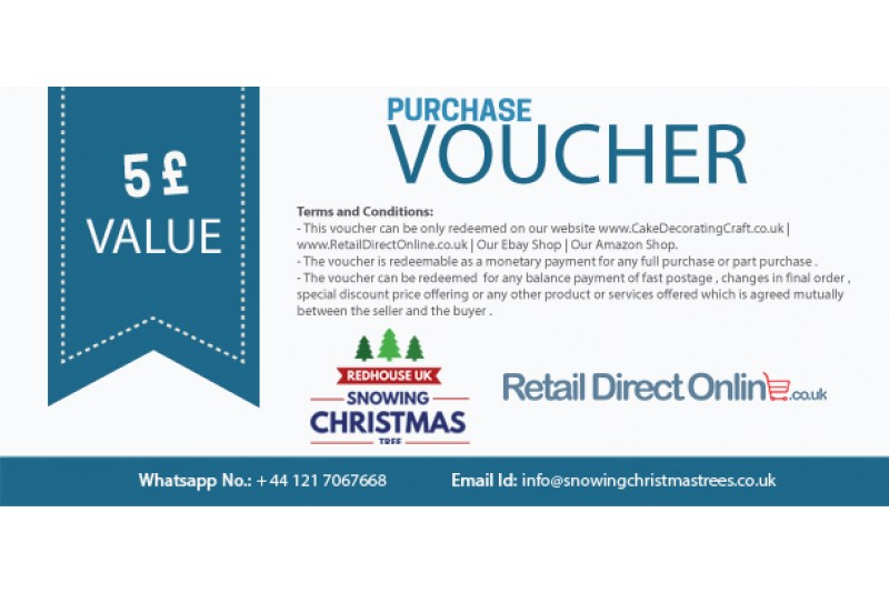 Purchase Voucher | Balance Payment Voucher | Value £ 5