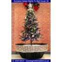 Snowing Christmas Tree - Artificial Snowfall - Black Umbrella Base - Beautiful White Patterned Skirt