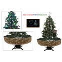 Snowing Christmas Tree With Green Umbrella Base | Snow Falling Christmas Tree With Christmas Decorations | Artificial Snowing Christmas Tree | Snow Cascading Christmas Tree