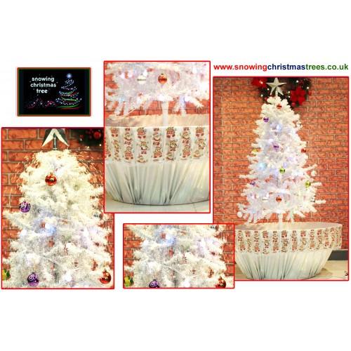 Umbrella Christmas Tree Uk.Snowing Christmas Tree With White Umbrella Base Snow Falling Christmas Tree With Christmas Decorations Artificial Snowing Christmas Tree Snow