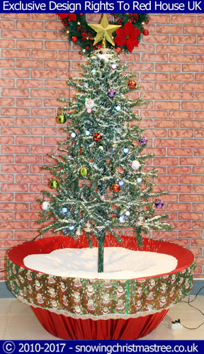 Snowing christmas tree gallery with flower pot base